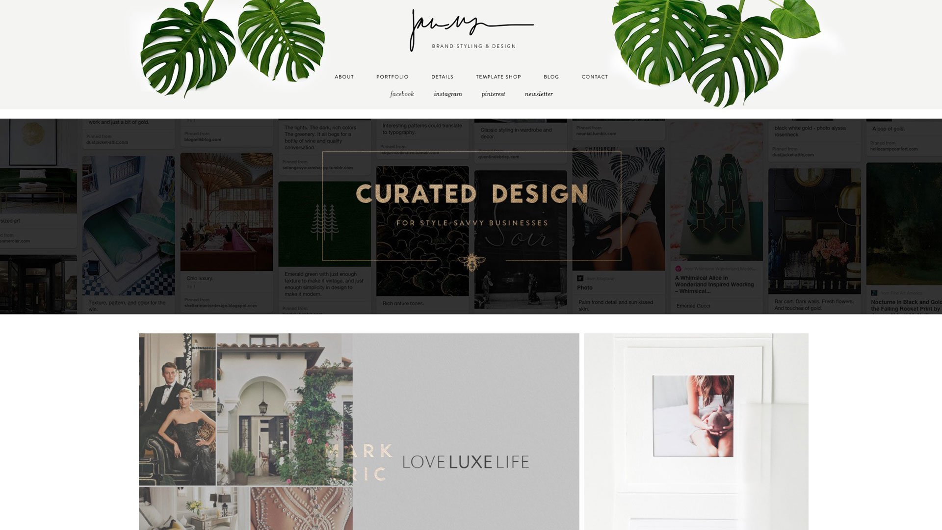 Jane's Homepage with amazing leaves and menus