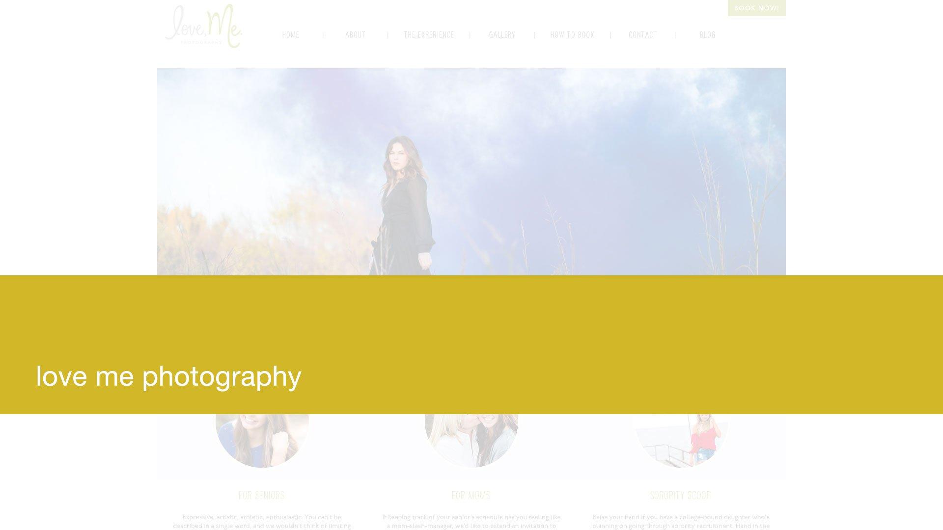 Love Me Photography Website