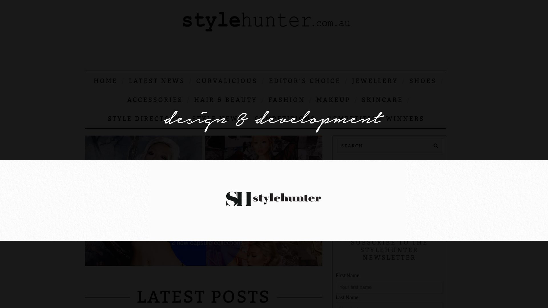 Style Hunter Homepage Website Australia