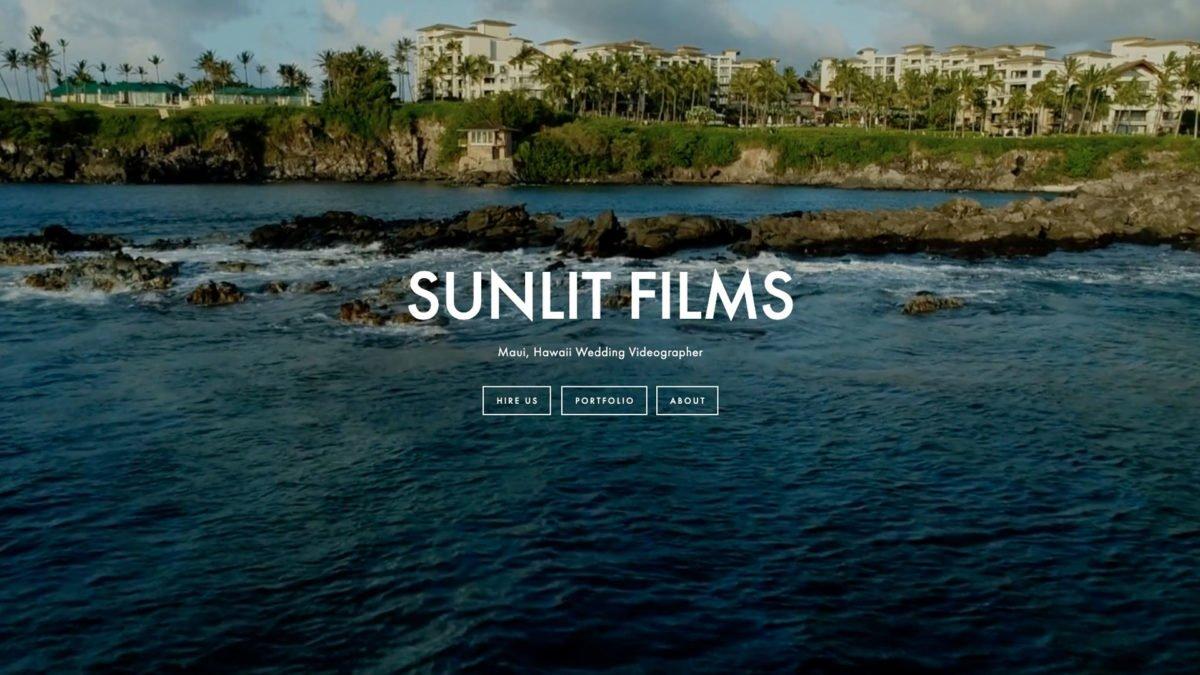 A Photo Of Sunlit Films Landing Page