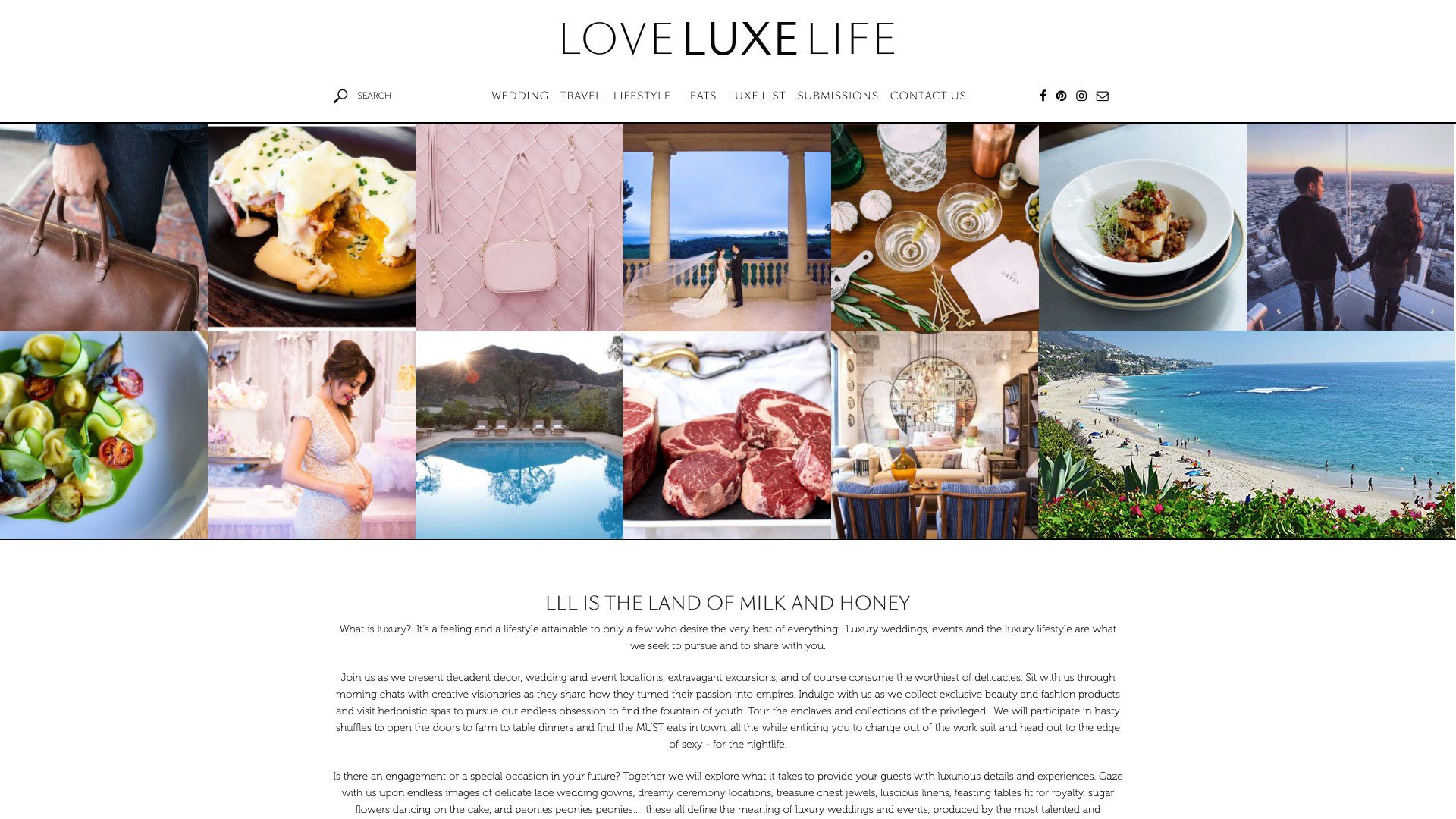 Love Luxe Life Front Page Masonry